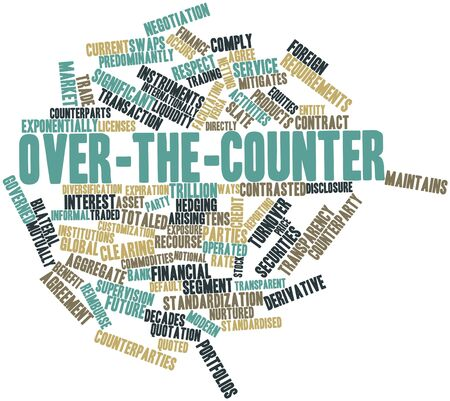 hedging: Abstract word cloud for Over-the-counter with related tags and terms Stock Photo