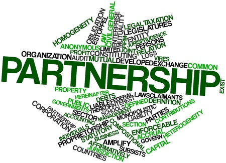 Abstract word cloud for Partnership with related tags and terms Stock Photo - 16501605
