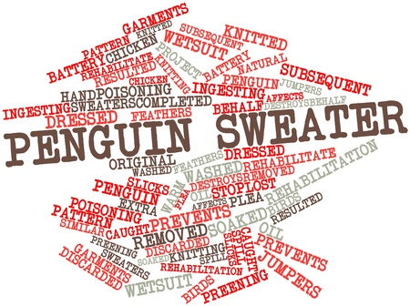 discarded: Abstract word cloud for Penguin sweater with related tags and terms