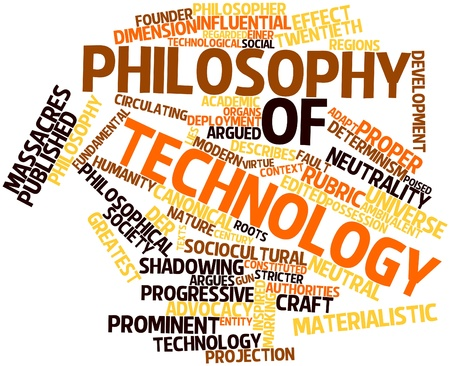 shadowing: Abstract word cloud for Philosophy of technology with related tags and terms Stock Photo