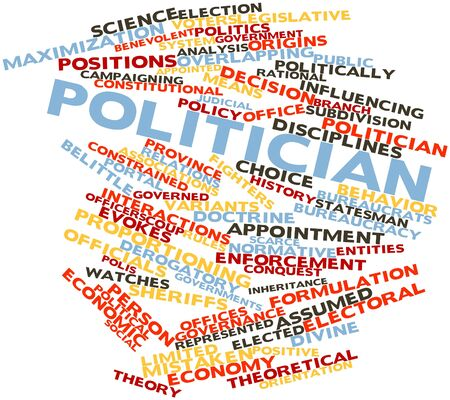 normative: Abstract word cloud for Politician with related tags and terms