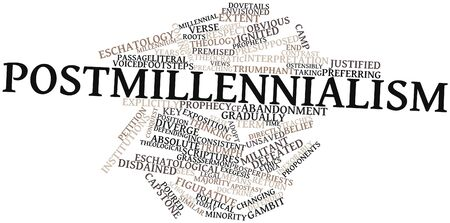 obvious: Abstract word cloud for Postmillennialism with related tags and terms Stock Photo