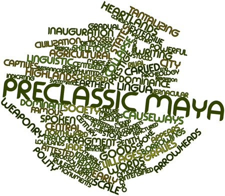 lingua: Abstract word cloud for Preclassic Maya with related tags and terms