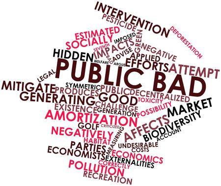 toxicity: Abstract word cloud for Public bad with related tags and terms Stock Photo