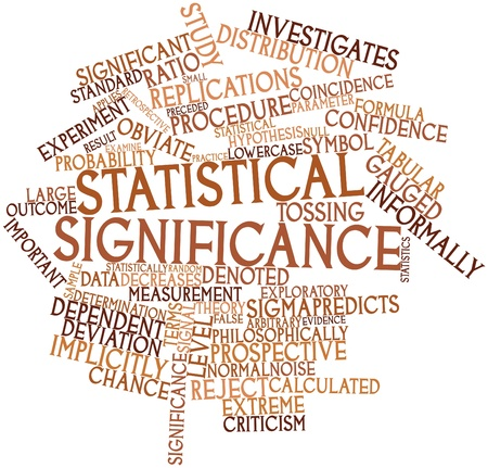 probability: Abstract word cloud for Statistical significance with related tags and terms Stock Photo