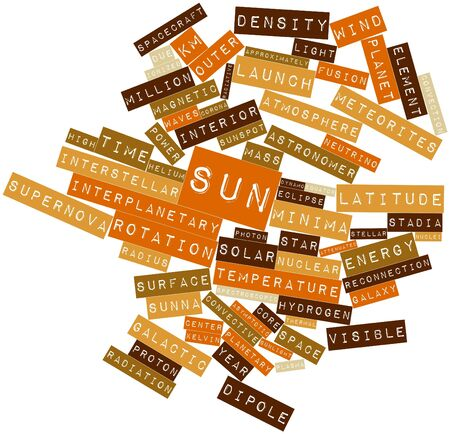 Abstract word cloud for Sun with related tags and terms Stock Photo - 16502201