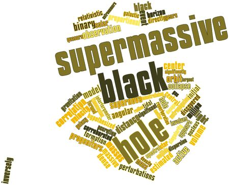 discovered: Abstract word cloud for Supermassive black hole with related tags and terms