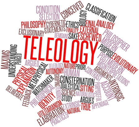 Abstract word cloud for Teleology with related tags and terms Stock Photo - 16502604