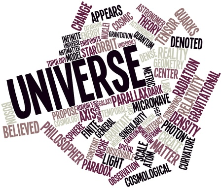 correspond: Abstract word cloud for Universe with related tags and terms