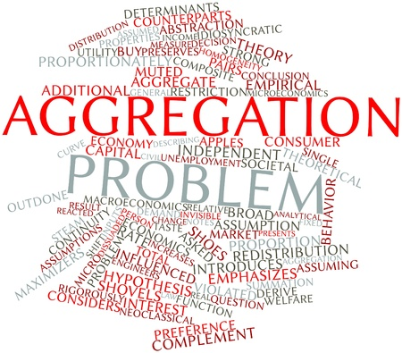 complement: Abstract word cloud for Aggregation problem with related tags and terms