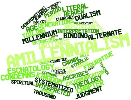 dualism: Nube palabra abstracta para Amilenialismo con etiquetas y t�rminos relacionados