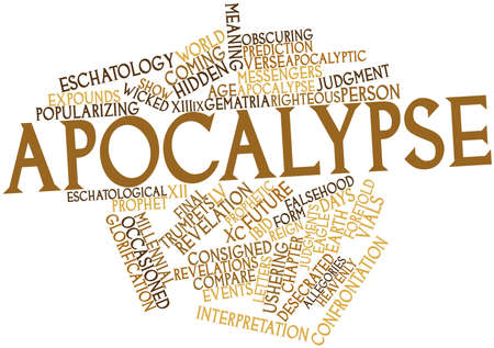 end of world: Abstract word cloud for Apocalypse with related tags and terms