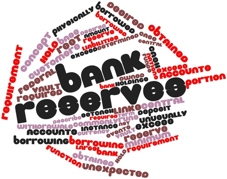 Abstract word cloud for Bank reserves with related tags and terms