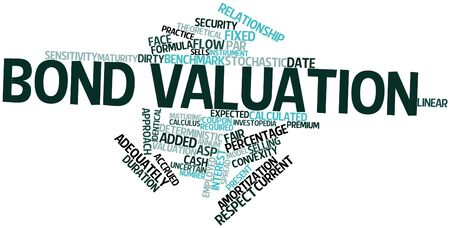 valuation: Abstract word cloud for Bond valuation with related tags and terms