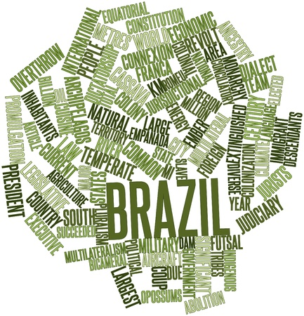 Abstract word cloud for Brazil with related tags and terms Stock Photo - 16530877