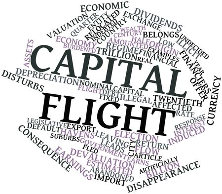 undecided: Abstract word cloud for Capital flight with related tags and terms