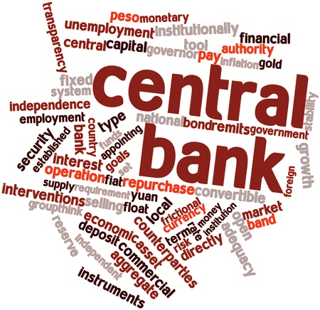 Abstract word cloud for Central bank with related tags and terms Stock Photo - 16530030