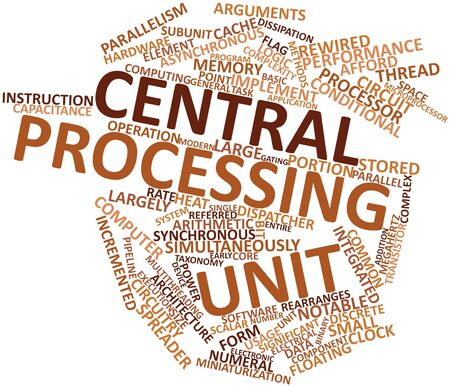 Abstract word cloud for Central processing unit with related tags and terms Stock Photo - 16529859