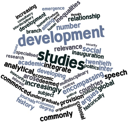 arose: Abstract word cloud for Development studies with related tags and terms