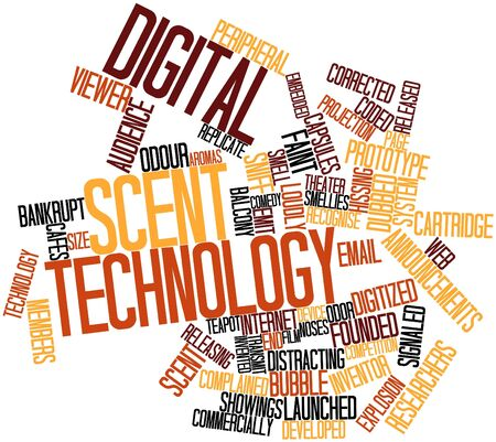 launched: Abstract word cloud for Digital scent technology with related tags and terms