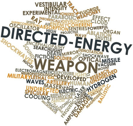 directed: Abstract word cloud for Directed-energy weapon with related tags and terms