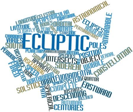 Abstract woordwolk voor ecliptica met gerelateerde tags en voorwaarden Stockfoto - 16530038
