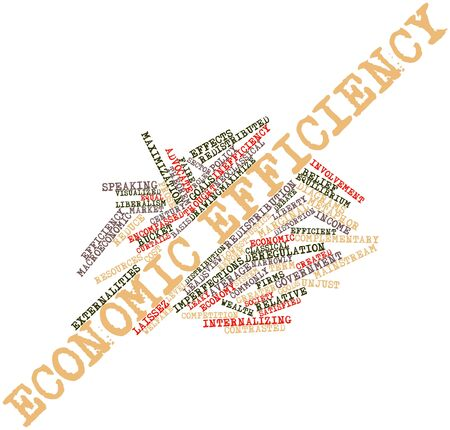 pursued: Abstract word cloud for Economic efficiency with related tags and terms