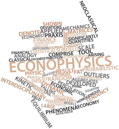 advocated: Abstract word cloud for Econophysics with related tags and terms