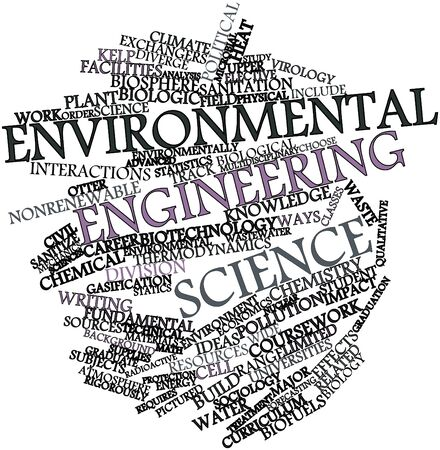 Abstract word cloud for Environmental engineering science with related tags and terms Stock Photo - 16530819