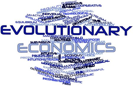 intuitive: Abstract word cloud for Evolutionary economics with related tags and terms