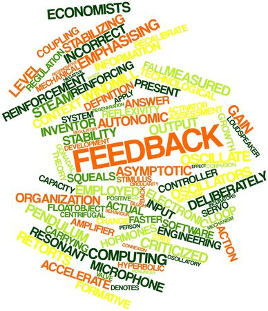 behaviour: Abstract word cloud for Feedback with related tags and terms