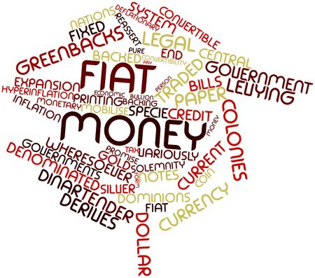 transitional: Abstract word cloud for Fiat money with related tags and terms