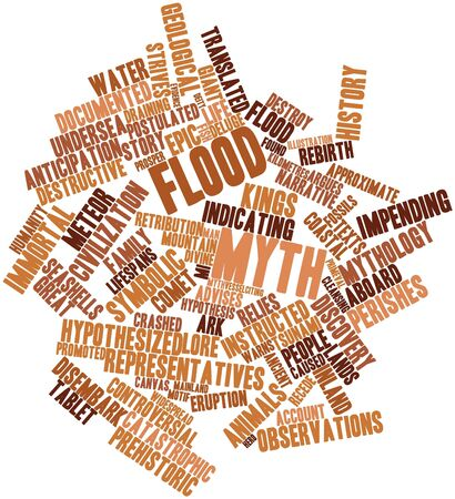 Abstract word cloud for Flood myth with related tags and terms photo