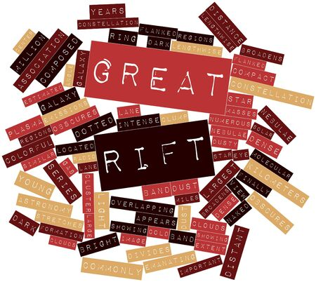 Abstract word cloud for Great Rift with related tags and terms Stock Photo - 16528717