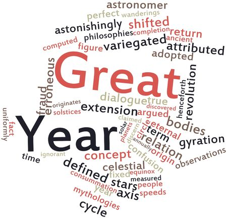 discovered: Abstract word cloud for Great Year with related tags and terms Stock Photo