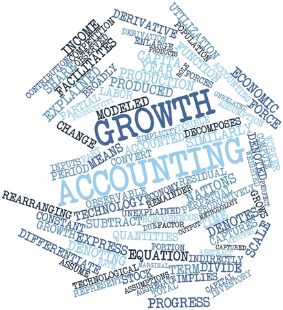 unrelated: Abstract word cloud for Growth accounting with related tags and terms