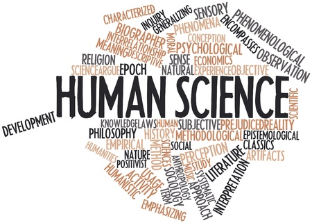 inquiry: Abstract word cloud for Human science with related tags and terms Stock Photo