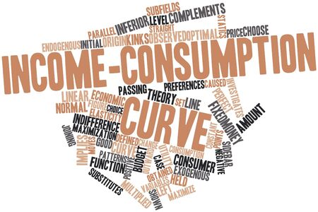 Abstract word cloud for Income-consumption curve with related tags and terms