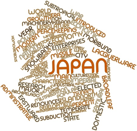 signatory: Abstract word cloud for Japan with related tags and terms