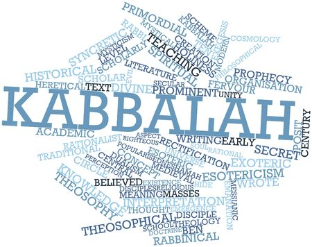 modern existence: Abstract word cloud for Kabbalah with related tags and terms