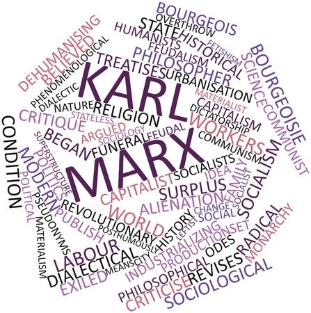 sociologia: Nube palabra abstracta por Karl Marx con las etiquetas y términos relacionados