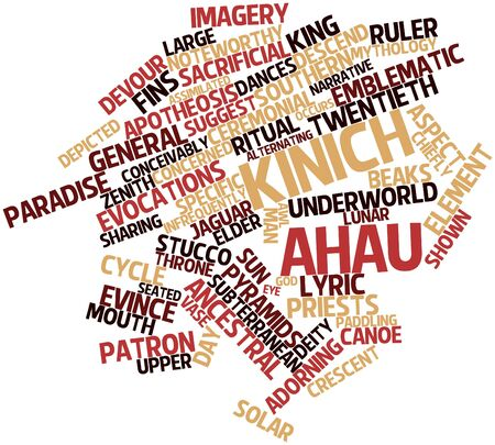 histories: Abstract word cloud for Kinich Ahau with related tags and terms