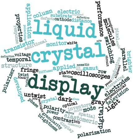 Abstract word cloud for Liquid crystal display with related tags and terms Stock Photo - 16529188