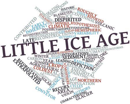 eiszeit: Abstraktes Wort-Wolke f�r kleine Eiszeit mit verwandten Tags und Begriffe Lizenzfreie Bilder