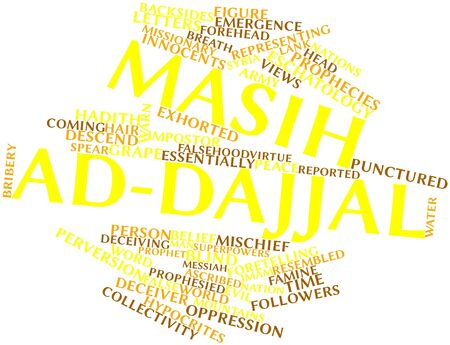 deceiving: Abstract word cloud for Masih ad-Dajjal with related tags and terms