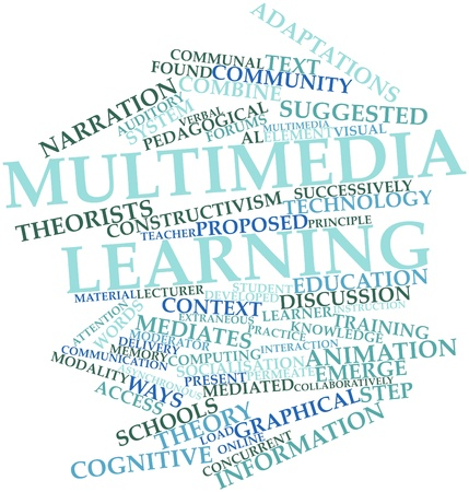 pedagogical: Abstract word cloud for Multimedia learning with related tags and terms