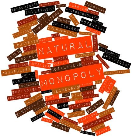 remuneraciones: Nube palabra abstracta por monopolio natural con etiquetas y términos relacionados