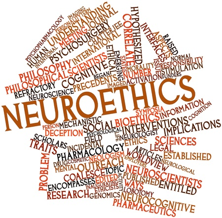 Abstract word cloud for Neuroethics with related tags and terms