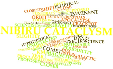 Abstract word cloud for Nibiru cataclysm with related tags and terms Stock Photo - 16527598