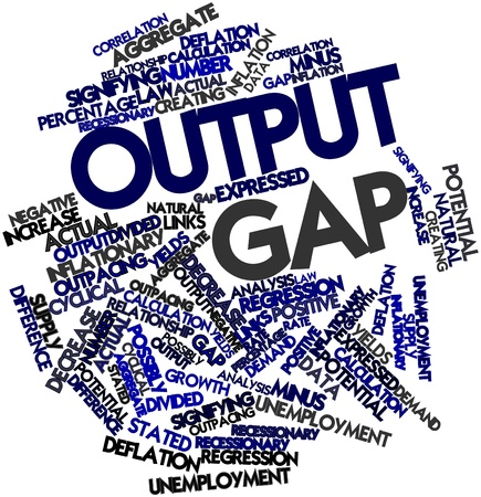 output: Abstract word cloud for Output gap with related tags and terms